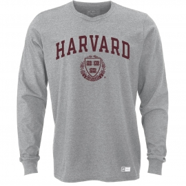 Harvard Russell Athletics Arched Seal Performance Long Sleeve Tee