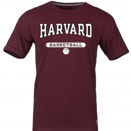 Harvard Maroon Basketball Tee Shirt