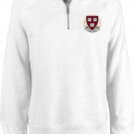 Harvard Women's Sanded Fleece 1/4 Zip Sweatshirt