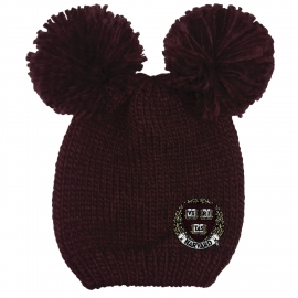 Harvard Double Pom Winter Knit Hat
