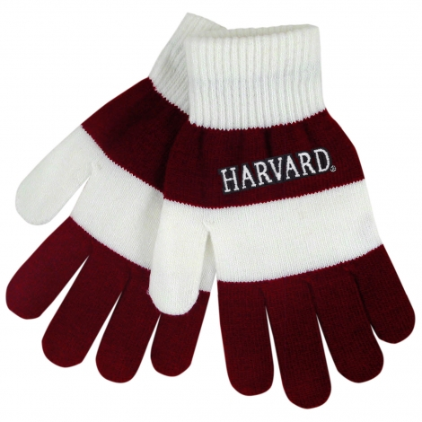 Harvard Rugby Stripe Knit Gloves