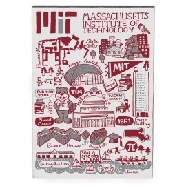 Julia Gash MIT Jumbo Wood Magnet