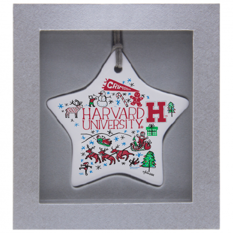 Harvard Julia Gash Ceramic Star Ornament