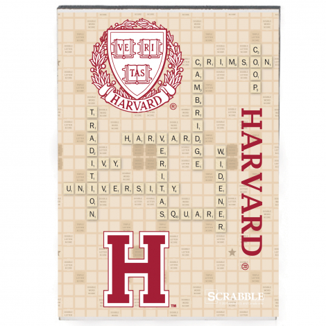 Harvard Scrabble Recycled Wood Magnet
