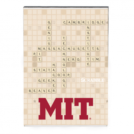 MIT Scrabble Recycled Wood Magnet