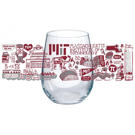 Julia Gash MIT Set of 4 Stemless Wine Glasses
