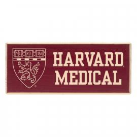 Harvard Medical School Wood Magnet