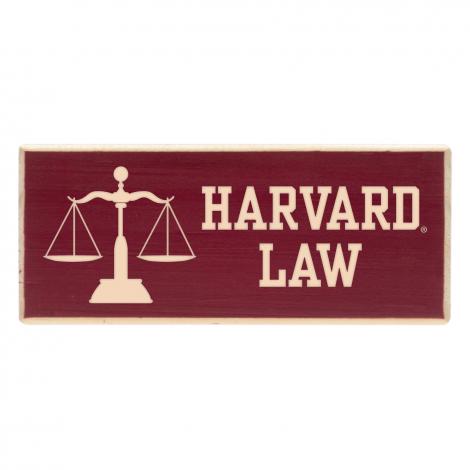 Harvard Law School Wood Magnet