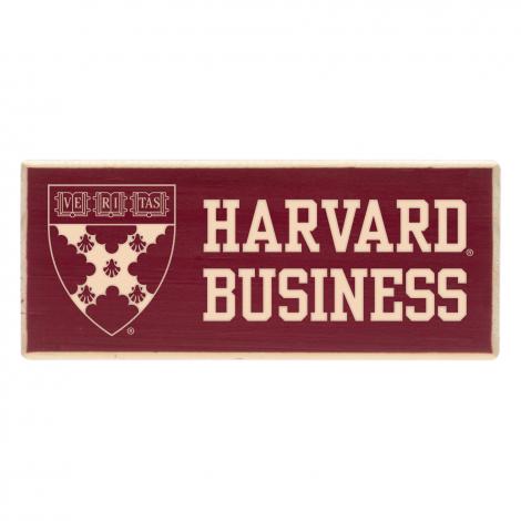 Harvard Business School Wood Magnet