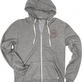 MIT Men's Tri-Blend Fleece Full Zip Hood