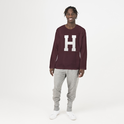 Harvard American Collegiate H Organic Long Sleeve Crew Neck Tee