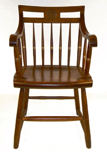 The Traditional Harvard Chair Laser Engraved In Russet Brown