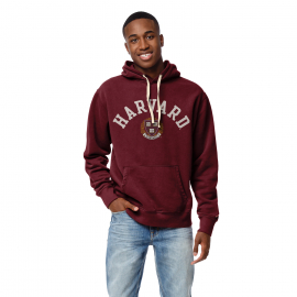 Harvard League Jersey Applique Stadium Hooded Sweatshirt