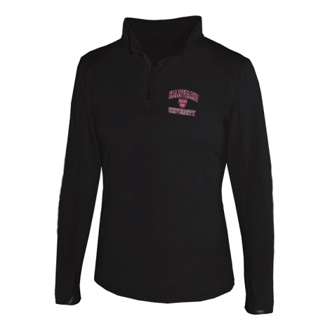 Women's Performance Black 1/4 zip Jacket