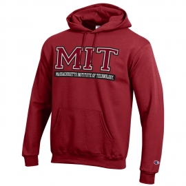 MIT Champion Applique Hooded Sweatshirt