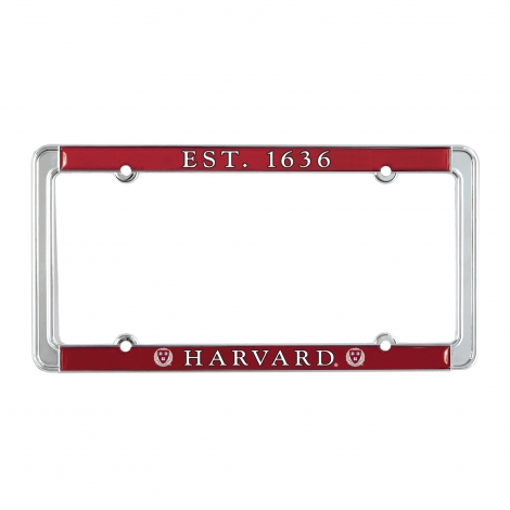 Harvard Est. 1636 Full Color License Plate Holder