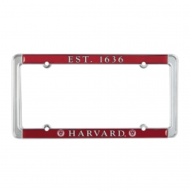 Harvard Full Color License Plate Holder
