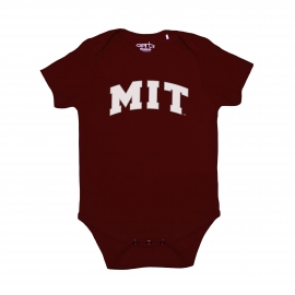 MIT Infant Maroon Short Sleeve Onsie