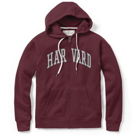 Women's Harvard Maroon Academy Full Zip Hood
