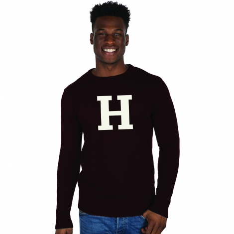 Harvard Intarsia Crewneck Sweater