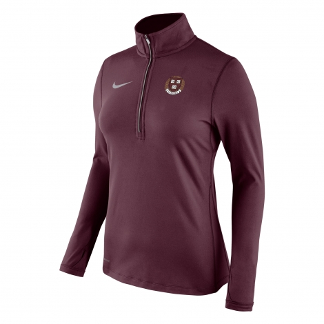 Harvard Nike Women's Dri-Fit 1/2 Zip Top