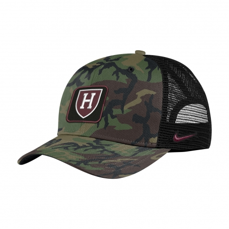 Harvard Nike Camo Trucker Hat