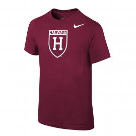 Harvard Nike Youth Athletic Shield Tee Shirt