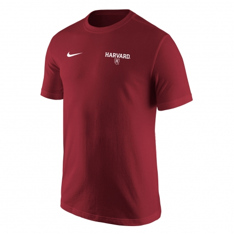 Harvard Nike Men's Athletic Shield Core Tee Shirt