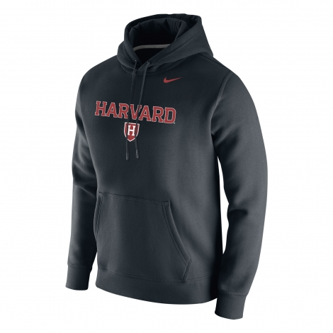 Harvard Nike Club Fleece Hooded Sweatshirt