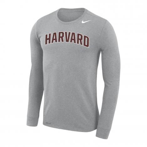 Harvard Nike Dri-Fit Legend Long Sleeve Tee Shirt