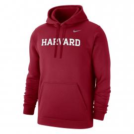 Harvard Nike Club Fleece Hooded Sweatshirt