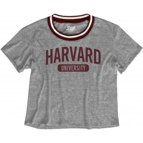 Harvard Women's Varsity Crop Tee