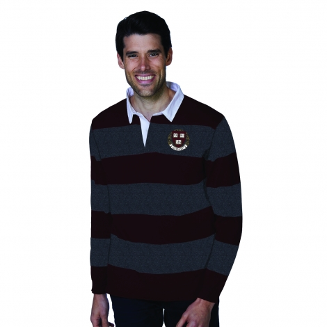 Harvard Men's Striped Rugby Sweater