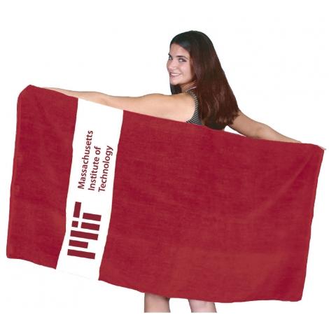 MIT Rugby Stripe Beach Towel