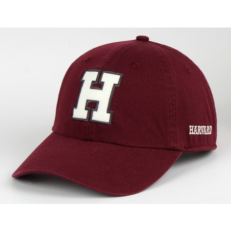 Harvard Classic Unstructured Twill Hat with Felt H Logo