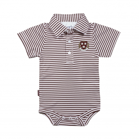 Harvard Infant Striped Polo Onesie