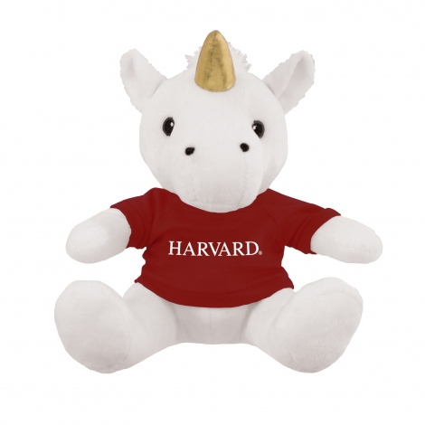 Hewitt the Magical Unicorn with Harvard Tee Shirt