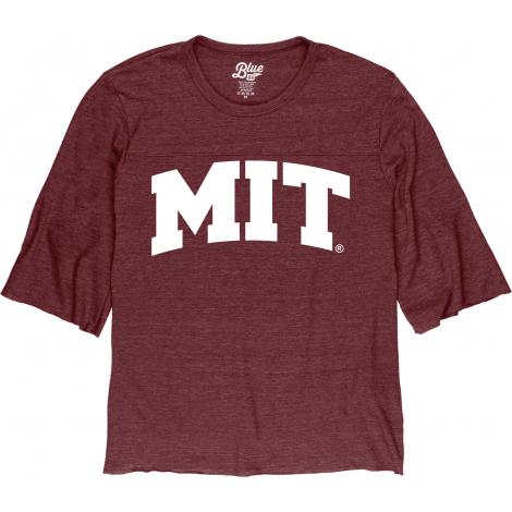 MIT Women's Raw Edge 3/4 Sleeve Tee Shirt