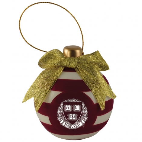 Harvard 3D Christmas Ball Ornament