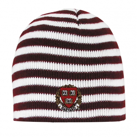 Harvard Micro-Stripe Knit Beanie