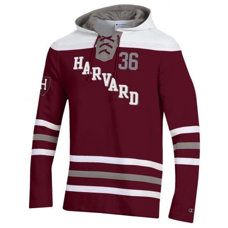 Harvard Champion Super Fan Hockey Hooded Sweatshirt