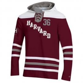 Harvard Champion Super Fan Hockey Hooded Sweatshirt
