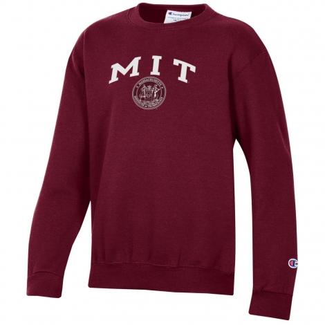 MIT Youth Crew Neck Sweatshirt With Seal Design