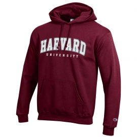 Champion Arched Harvard University Applique Hooded Sweatshirt