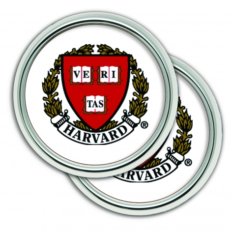Harvard 2 Pack Set of Coasters