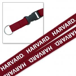 Harvard Platinum Woven Lanyard