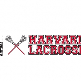 Harvard Lacrosse Bumper Sticker