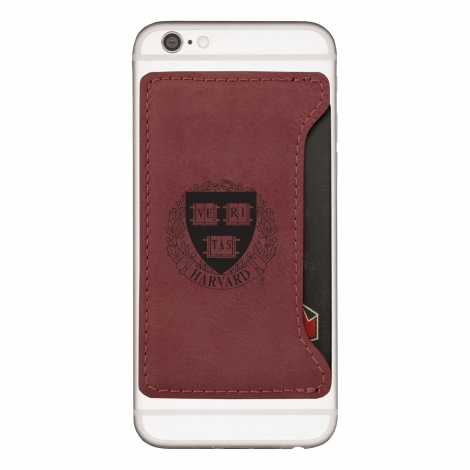 Harvard Velour Cell Phone Card Holder