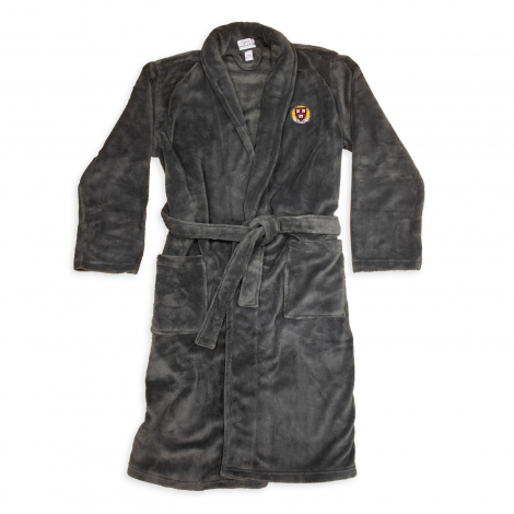 Harvard Embroidered Shawl Collar Bathrobe