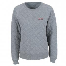 MIT Women's Quilted Crew Neck Sweater